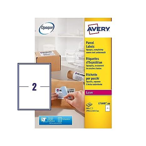 Amazon.com: Avery L7168B - Etiquetas autoadhesivas para ...