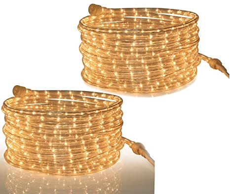 Amazon tupkee rope light clear for indoor and outdoor use tupkee rope light clear for indoor and outdoor use 24 feet 73 m aloadofball Image collections