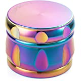 "Colourful 4 Pieces Tobacco Spice Herb Grinder - By Kepooman (2.5"", Rainbow metal)"