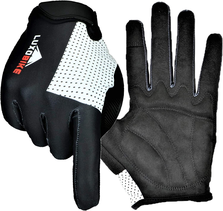 BYBAIZ Mountain Bike Fingerless Gloves Men Black Blue Workout Biking Women Gym Motorcycle Cycling Gloves