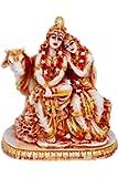 Max India Poly-resin Radha Krishna Statue (Multicolour)