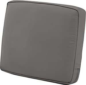 "Classic Accessories Montlake Back Cushion Foam & Slip Cover, Light Charcoal, 21x20x4"" Thick"