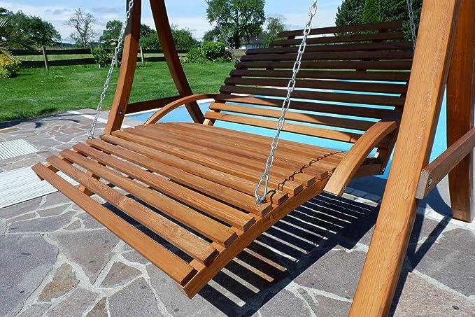 Diseño Hollywood oscilación del jardín Columpio de madera de ...