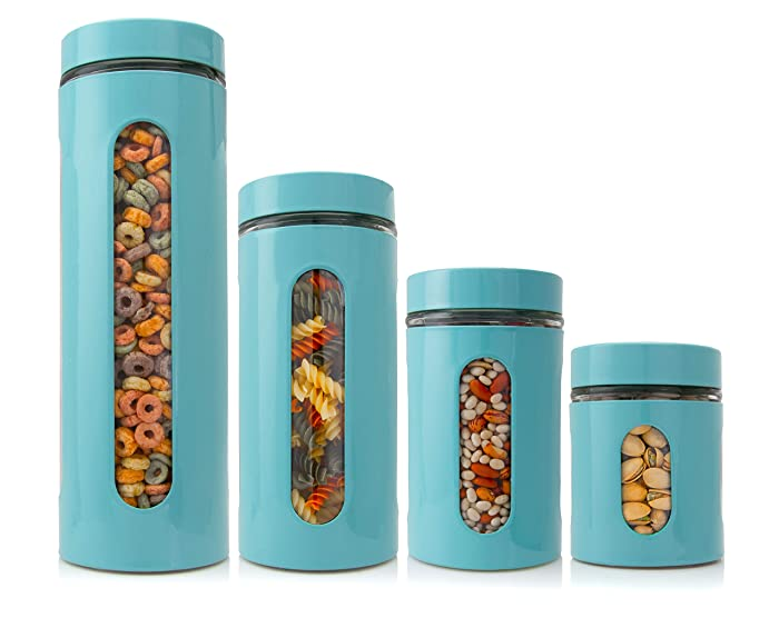 Top 9 Glass Food Container Set Turquoise