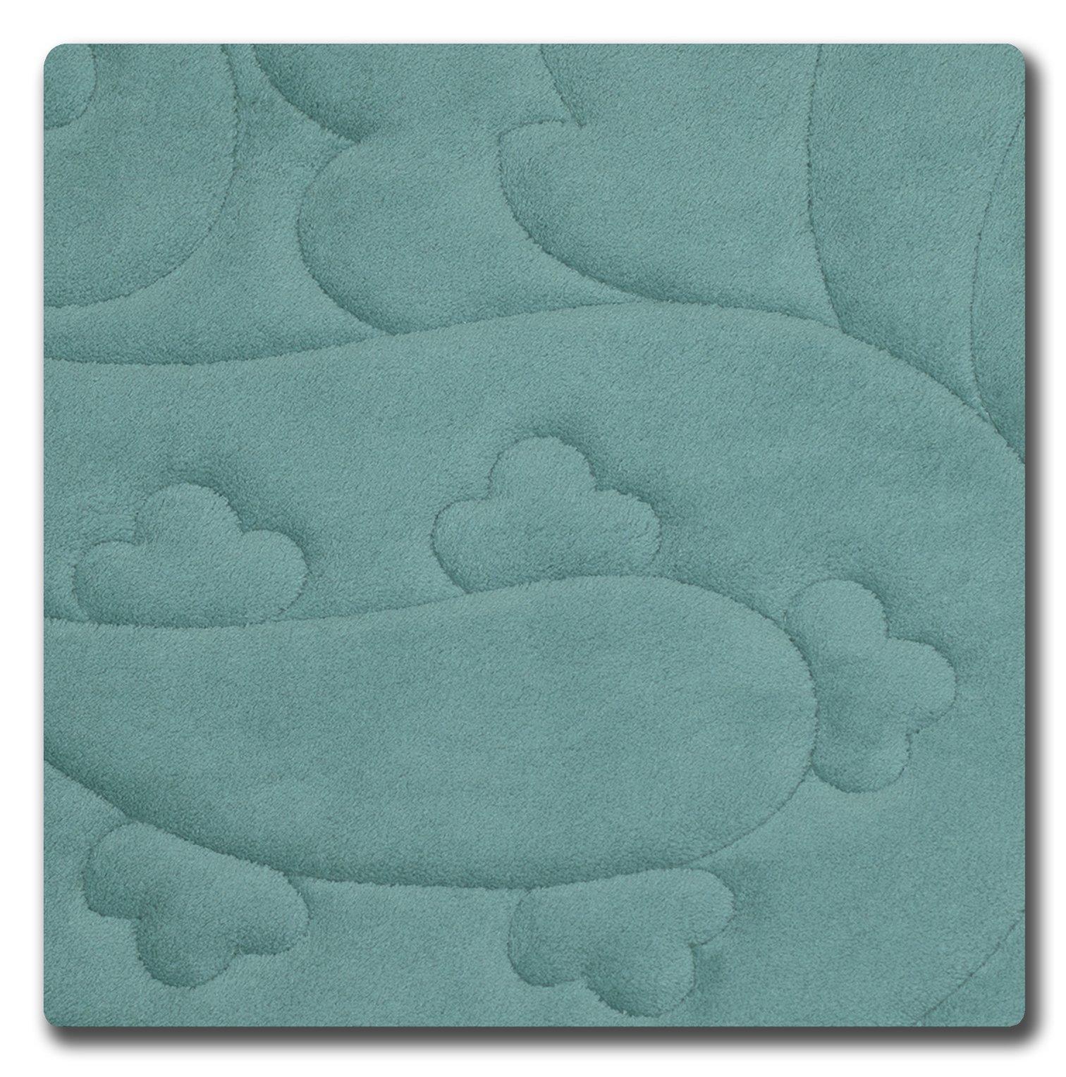 Bounce Comfort Pelton Micro Plush Memory Foam Bath Mat with BounceComfort, 20 x 32 in. Marine Blue -  - bathroom-linens, bathroom, bath-mats - 814HPM%2BbdFL -