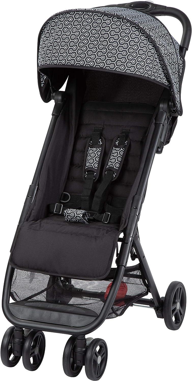Safety 1st Teeny Cochecito ligero y compacto, Pesa solo 5,6 kg, Reclinable y Plegable con una sola mano, Silla de Paseo de viaje con bolsa de viaje includida, color Geometric