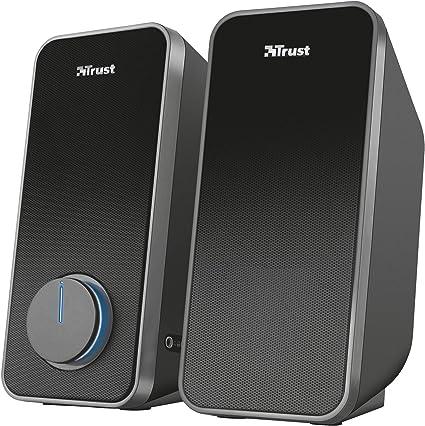 Trust Arys - Set de Altavoces de Ordenador (2.0, 28 W, alimentados por USB), Negro: Trust: Amazon.es: Informática