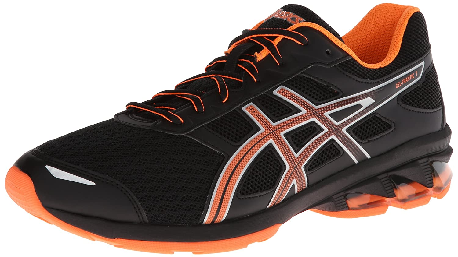 cd317c7dadc Amazon.com | ASICS Men's Gel-Frantic 7 Running Shoe, Black/Electric  Orange/Silver, 12.5 M US | Road Running