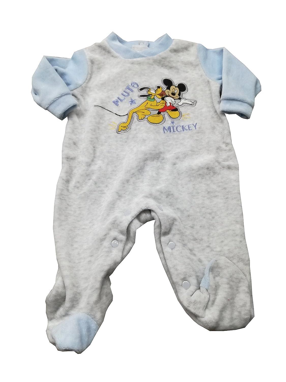 MICKEY pelele Disney chenilla recién nacido con los pies de ratón ...