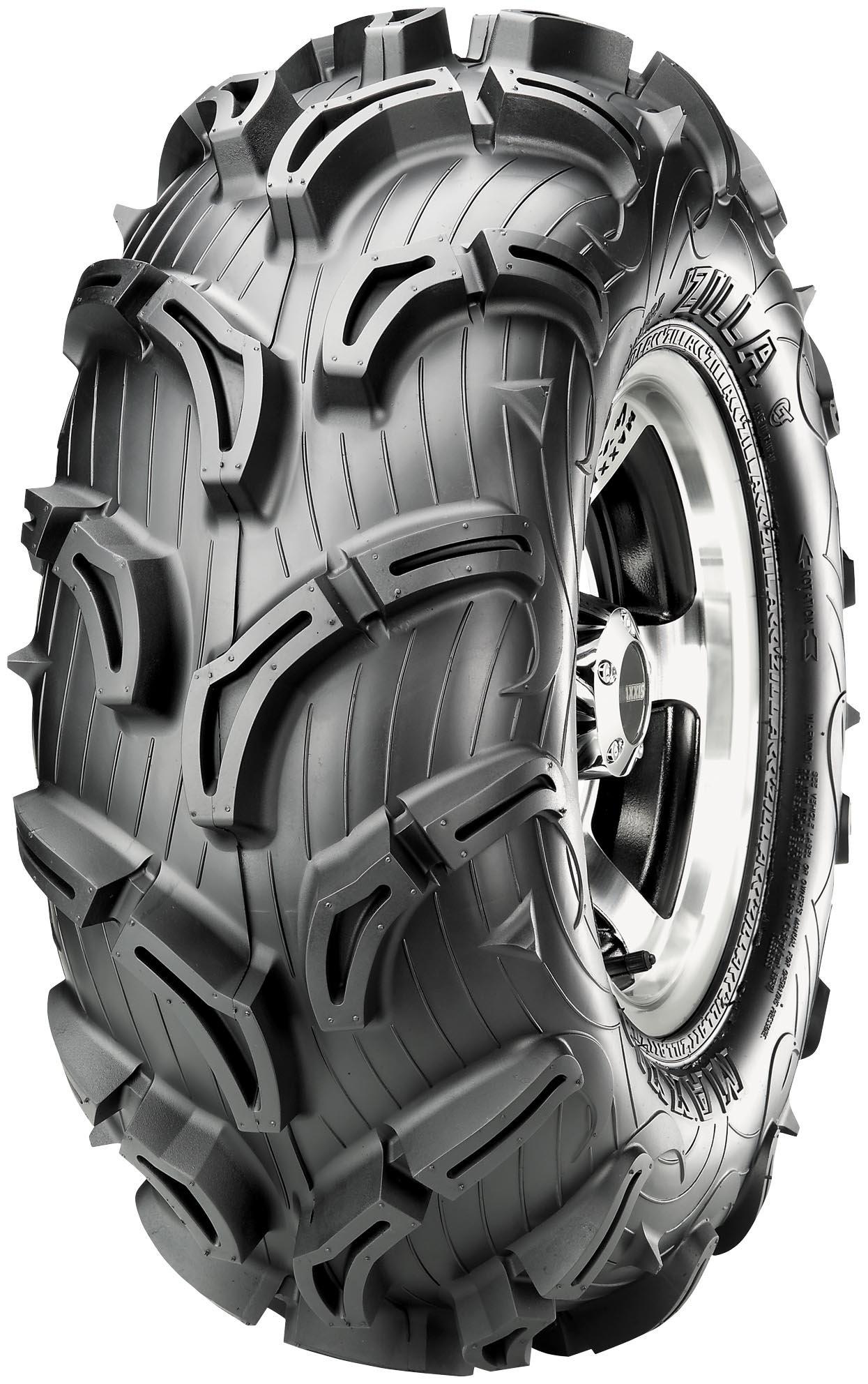 Maxxis MU02 Zilla Tire - Rear - 22x10x9 , Position: Rear, Tire Size: 22x10x9, Rim Size: 9, Tire Ply: 6, Tire Construction: Bias, Tire Type: ATV/UTV, Tire Application: Mud/Snow TM00433100