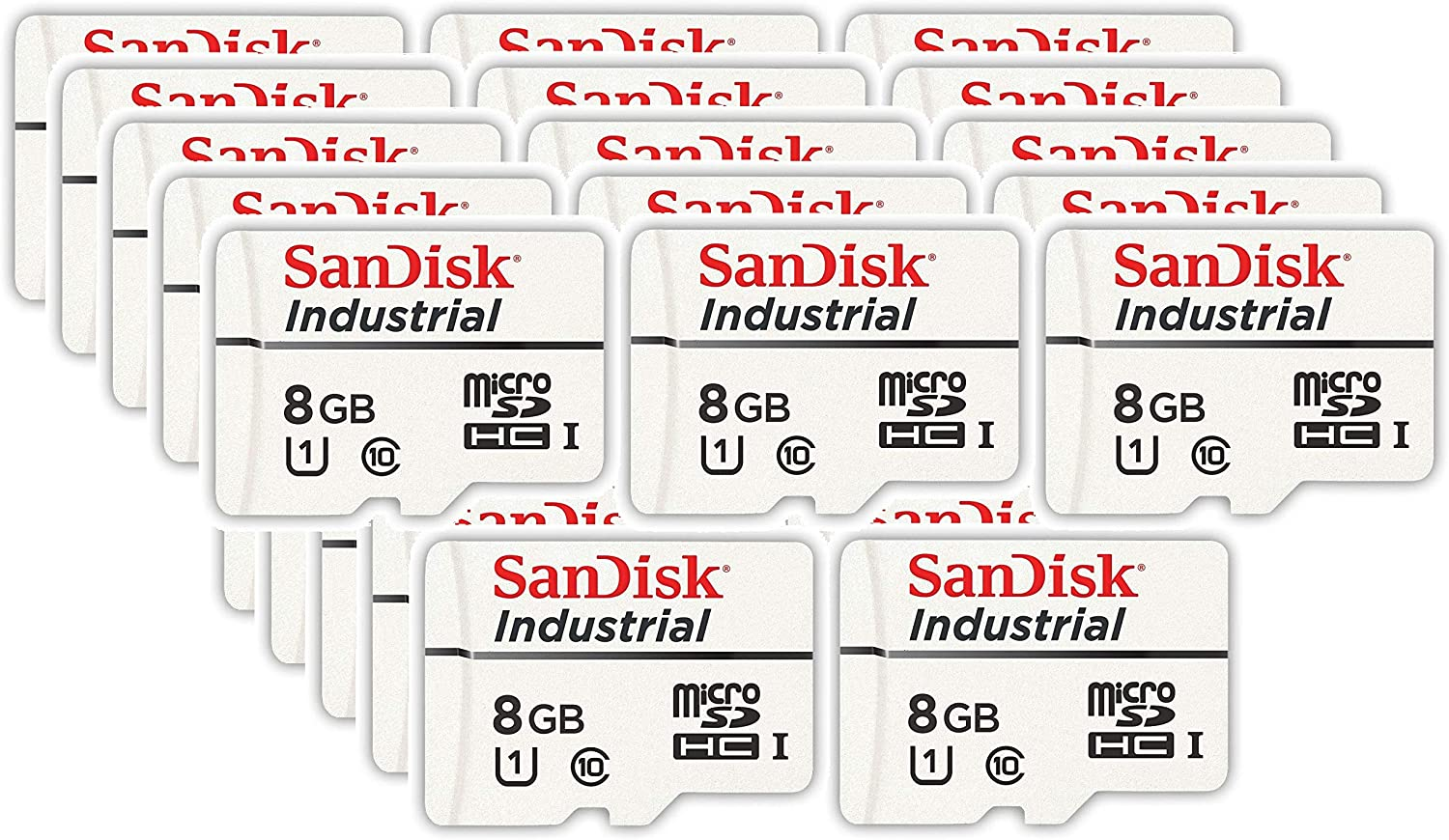 Everything But Stromboli Card Reader 1 Bulk 10 Pack in Cases Bundle with SDSDQAF3-008G-I SanDisk Industrial 8GB Micro SD Memory Card Class 10 UHS-I MicroSDHC