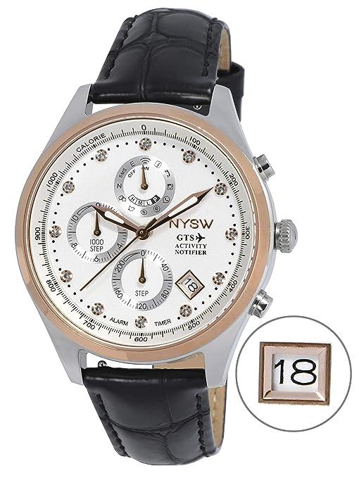 Amazon.com: NYSW - Reloj inteligente híbrido más clásico ...