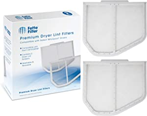 Fette Filter 2 Pack Dryer Lint Screen Catcher | Compatible with Whirlpool W10120998, Kenmore, Maytag Dryers | Premium Quality Lint Screens Part # AP3967919