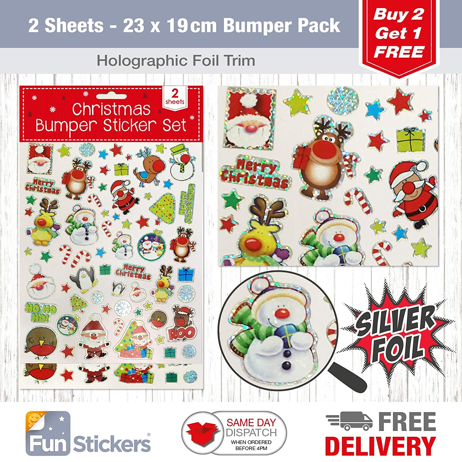 Fun stickers Christmas Stickers 2 sheets