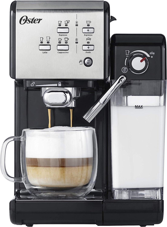 OSTER Cafetera espreso Prima Latte II, 19 Bares, con Tratamiento ...