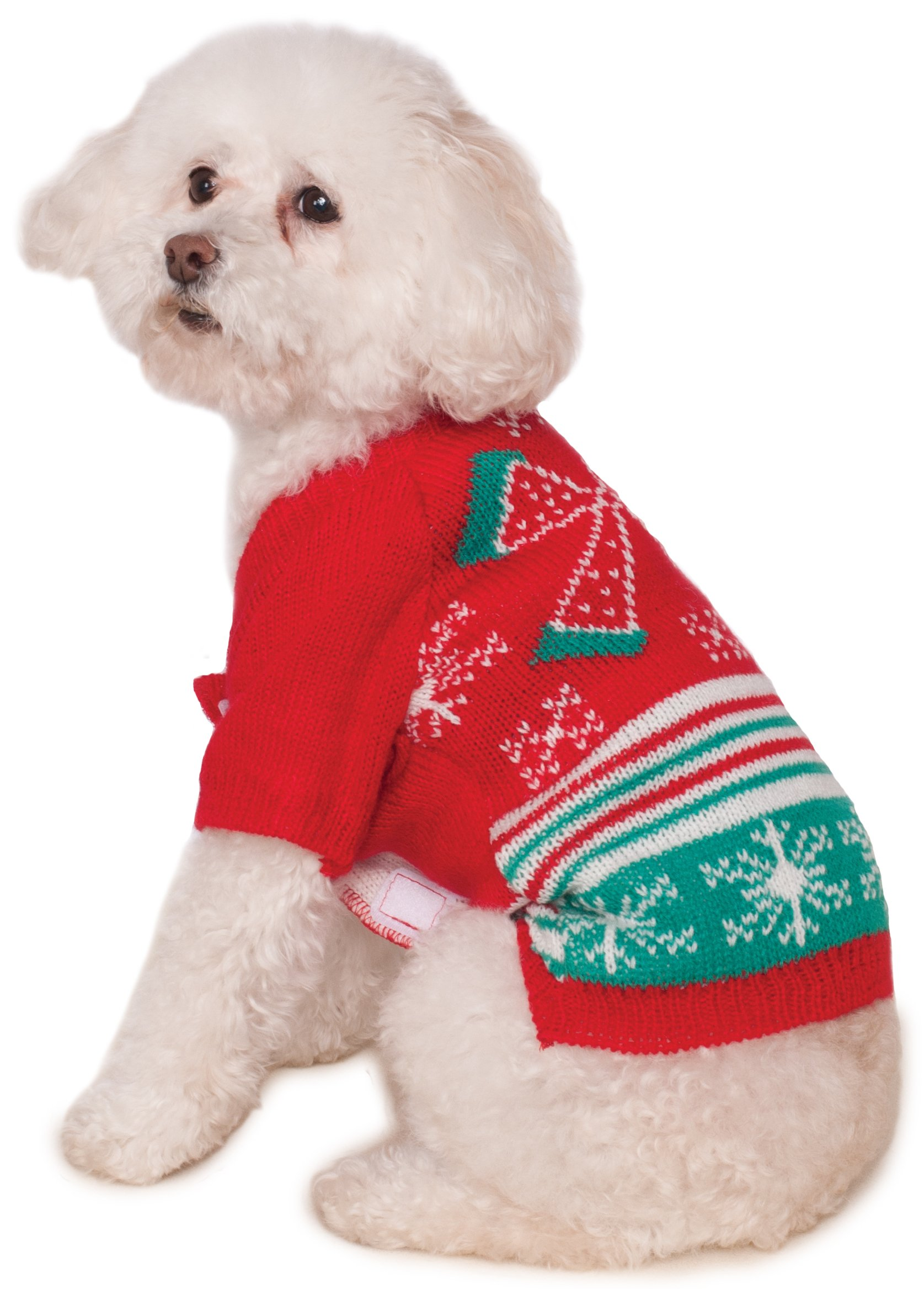 Rubie's Christmas Ugly Sweater with Bow Pet Costume, XX-Large