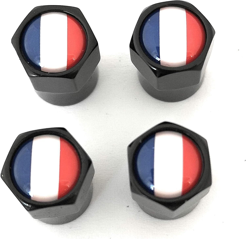 AVEELO Lot de 4 bouchons de valve avec drapeau fran/çais des Pays-Bas pour voiture scooter et poussette moto v/élo
