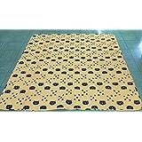 プリント キルトマルチカバー ネコ大好き 黄色 190*240cm 長方形 お手頃価格で気軽にちょっとお部屋の模様替え