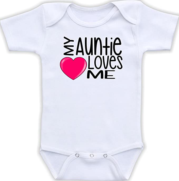 010225cab Amazon.com: My Auntie Loves Me - Cute Unisex One Piece Baby Bodysuit:  Clothing