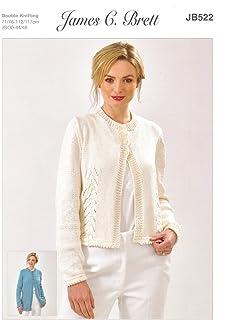 2b1ed8cf57a4 James Brett Womens Knitting Pattern Ladies Glisten DK Long or Short Cardigan  (JB522)