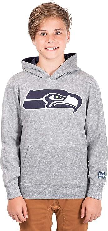 NFL Seattle Seahawks Ultra Game Mens SS POLY CREW NECK TEE Medium Heather Gray