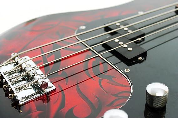 Paquete de guitarra de bajo encargo Jaxville demonio: Amazon.es: Instrumentos musicales