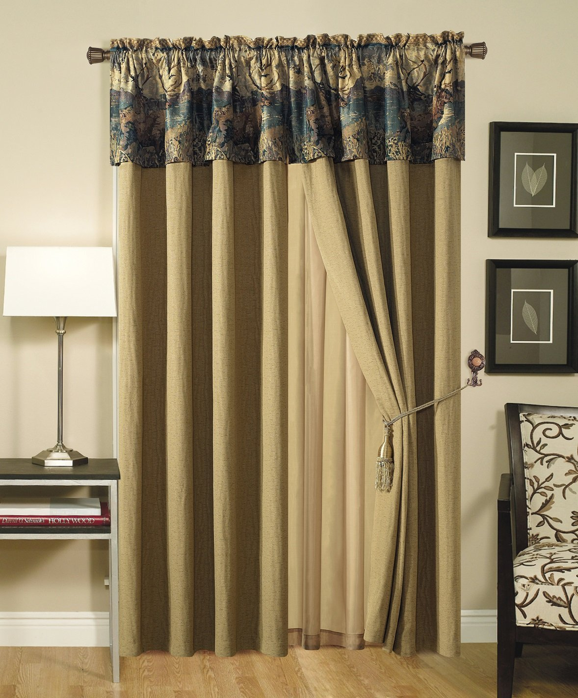 French Country Wild Deer and Elk Drape Set