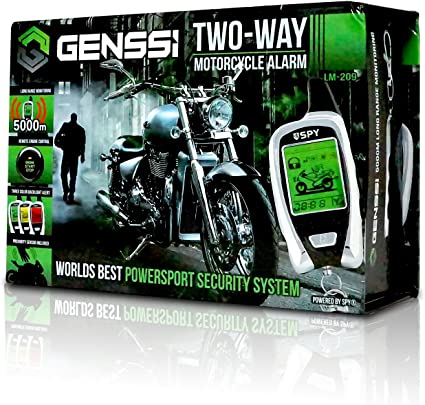 SPY 5000M LCD Motorcycle Motorbike Alarm 2 Way Remote Start Microwave Sensor