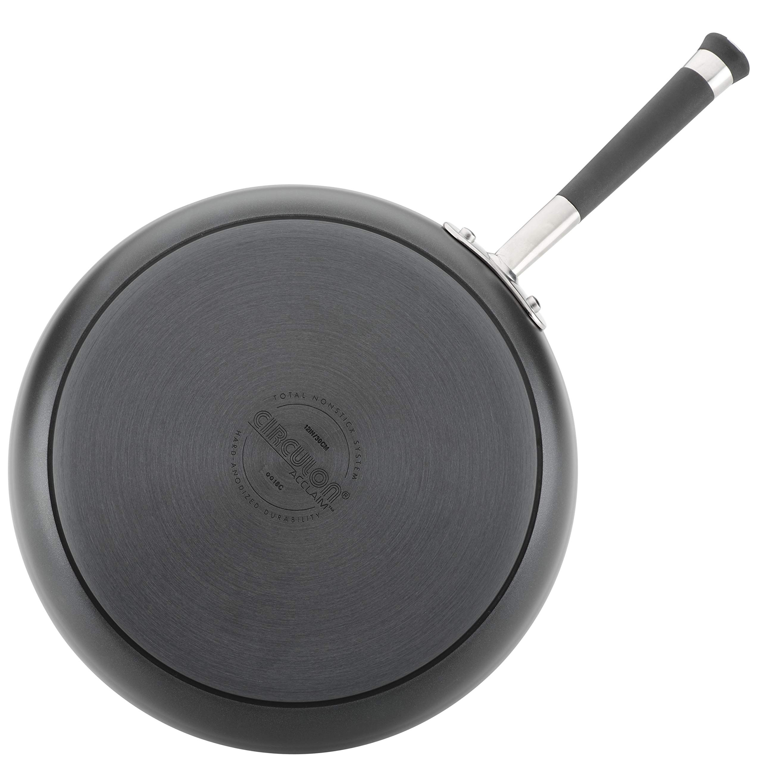 Circulon Acclaim Hard-Anodized Nonstick 12-Inch Covered Deep Skillet, Black by Circulon (Image #2)