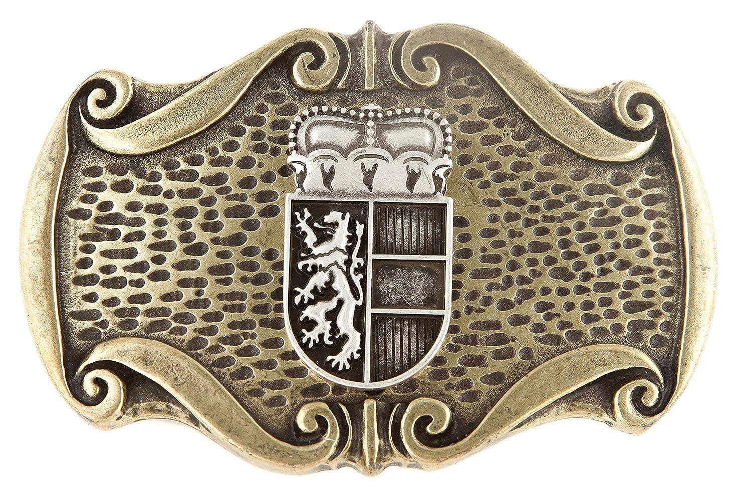 G/ürtelschlie/ße Farbe messing K/ärnten Buckle Landeswappen Hochwertige G/ürtelschnalle f/ür 40 mm G/ürtel