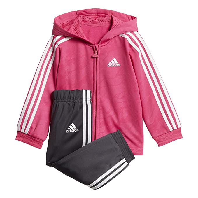 0f4c9b5749ab adidas Kids Infants Girls Jogger Set Lifestyle Shiny Pants Jackets School  DJ1578  Amazon.co.uk  Clothing