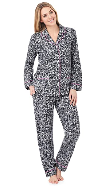 DKNY - Pijama - para mujer negro White Animal X-Small