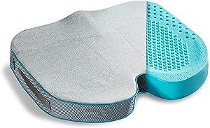 Bedsure Gel Seat Cushion for Office Chair - 2 inch Egg Sitting Cushion for Coccyx Tailbone Pain & Pressure Relief - Non-Slip Cover Ergonomics Chair Cushion for Desk Chair Car Truck Wheelchair