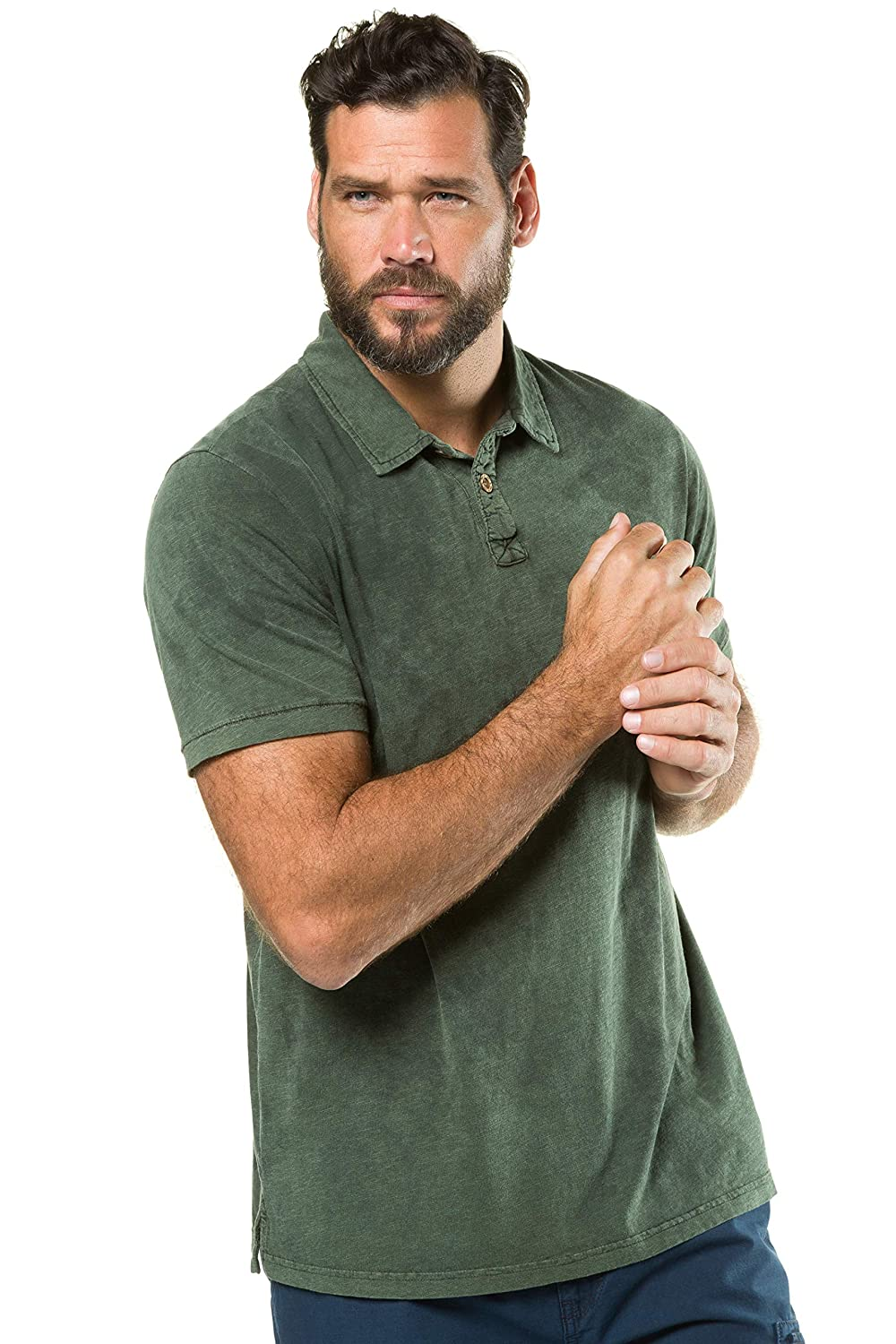a370a30a JP 1880 Men's Big & Tall Vintage Style Polo Shirt 716987 at Amazon Men's  Clothing store: