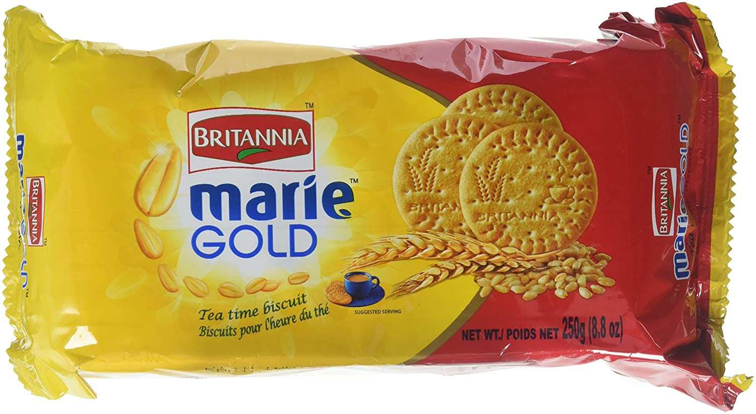 Britannia Marie Gold Tea Time Biscuits - 250g., 8.8oz. (Pack of 4)
