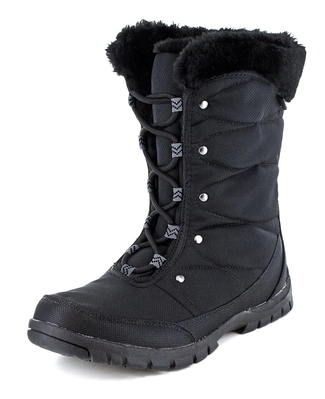 Northside Women's Brecklin Snow Boot B01MRBTFY3 7 B(M) US Black/Charcoal