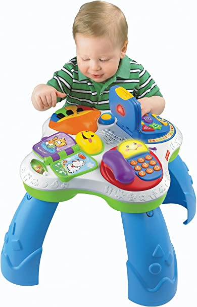 Fisher-Price Laugh & Learn Fun with Friends Musical Table Activity Center by Fisher-Price: Amazon.es: Juguetes y juegos