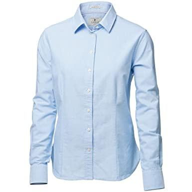 Sleeve Womensladies Formal Shirt Nimbus Oxford Rochester Long dgWxqHR