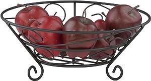 Home Basics Black Fruit Basket, 11
