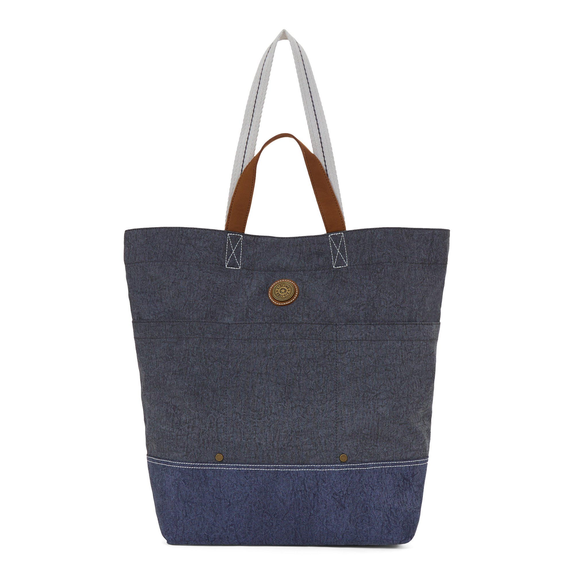 Kipling Women's Hoongry Tote Bag One Size Aged Grey Block by Kipling