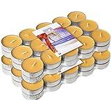 Le Chat 1190016 Lot de 2  packs de 30 bougies chauffe-plats colorées et parfumées  MARIE GALANTE - jaune exotique /parfum sunny fruits