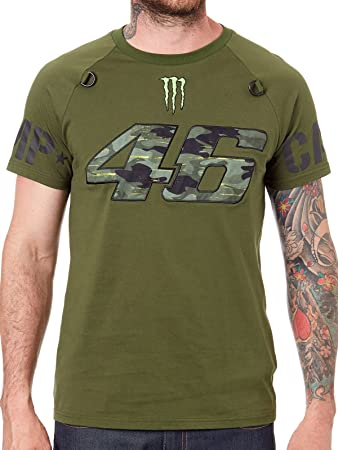Valentino Rossi Vr46 Moto Gp Monster Camp Edition Camo T Shirt Offiziell 2018