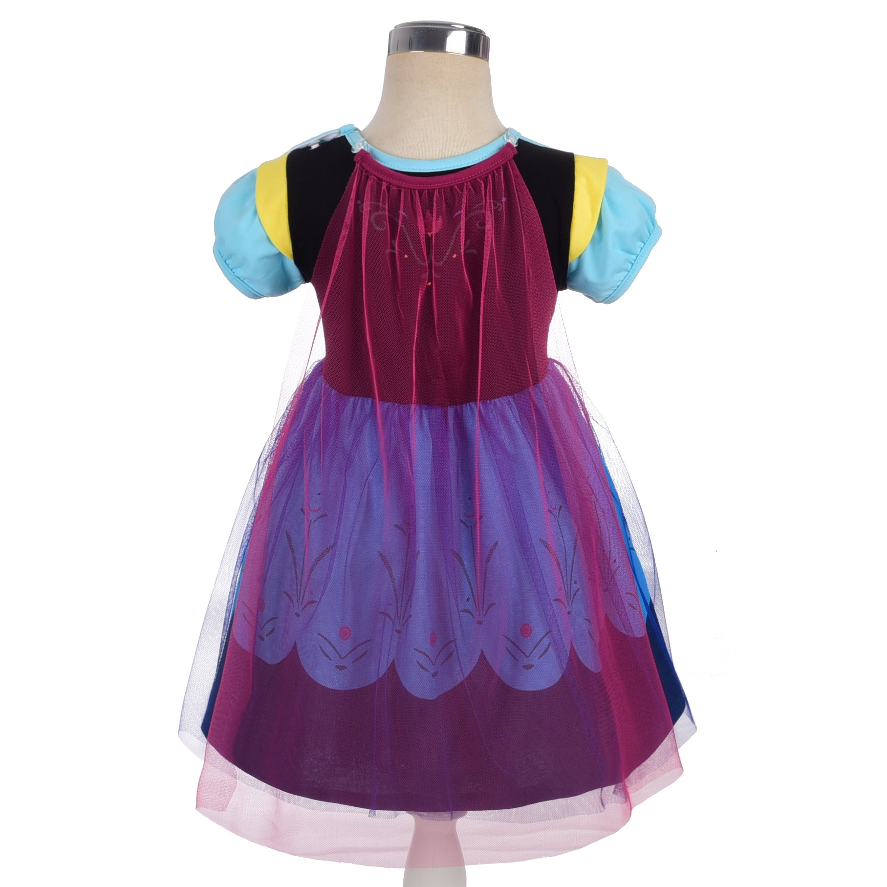 Dressy Daisy Princess Anna Dress for Toddler Girls with Cape Halloween Fancy Party Costume Dress Size 2T by Dressy Daisy (Image #2)