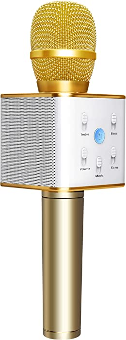 Top 10 Q7 Bluetooth Home Karaoke Speaker Microphone
