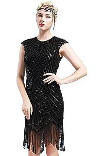 d96b701dc01f Babeyond Vestito Gatsby Donne 1920s Vestito Abito Anni 20 Donna Flapper  Dress 1920s Vestito da Sera