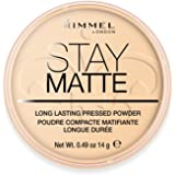 Rimmel Stay Matte Pressed Powder, Transparent [001], 0.49 oz