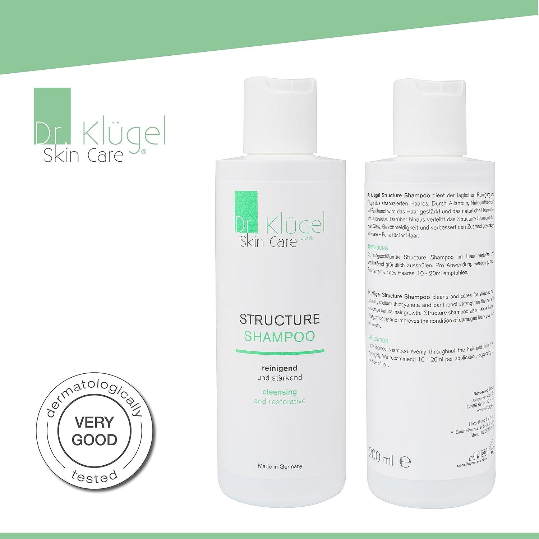 Champú contra caída del cabello | Dr. klügel Structure Champú 200 ml con thioc yanat | pelo Crecimiento acelerar y anregen | Crecimiento del Vello Medio ...