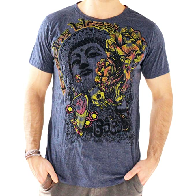 Yoga Shirts - Omtimistic Hombre Casual Buddha Graphic tee ...