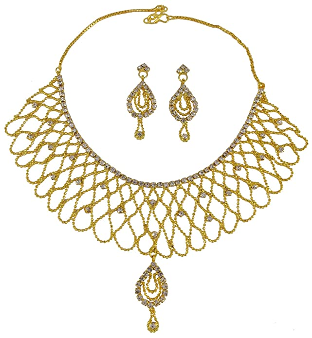 Goldplated Ethnic 2pcs Necklace Earring Set Traditional Party Jewelry-bng36a Jewelry & Watches