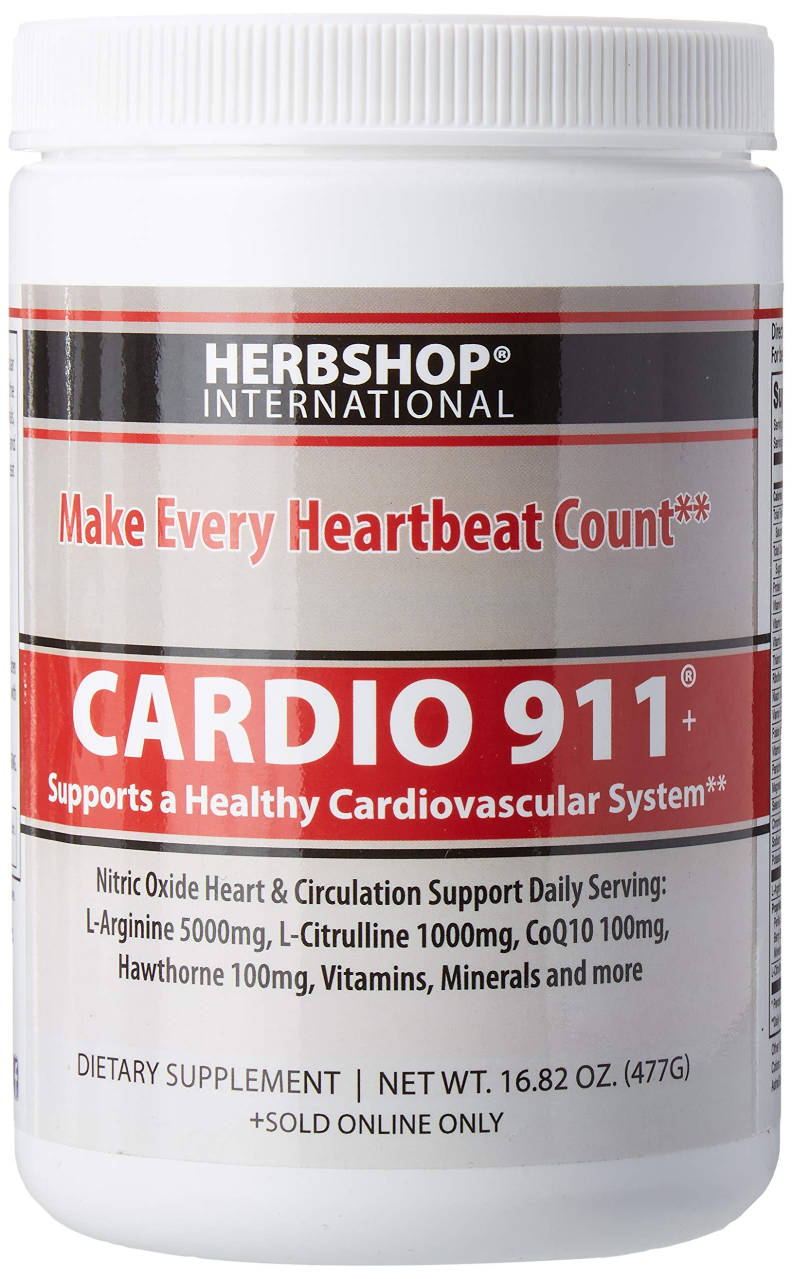 Cardio 911® Heart Health Nitric Oxide (16.82 Ounce Powder with Scoop) Tart Cherry Flavor L-Arginine Supplement 5000mg + L-Citrulline 1000mg,16.82 Ounces by Cardio 911